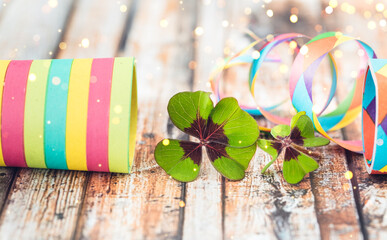 colorful shamrock with decorations