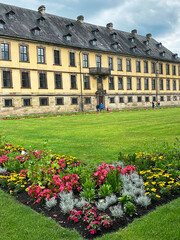 Green oasis in the heart of the city - Palace garden in the baroque city of Fulda, Germany