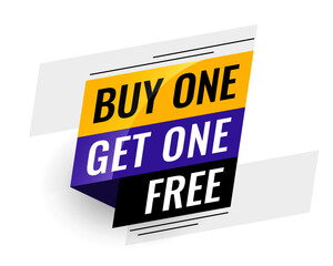 bogo (buy one get one) free sale banner