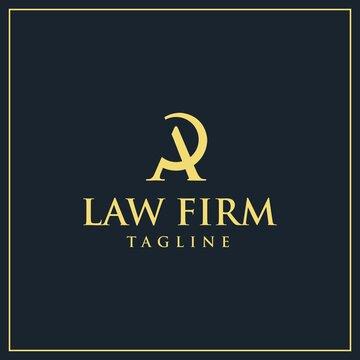 pa or ap law logo design