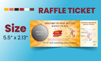 raffle ticket template or event ticket template or tickets template for raffle
