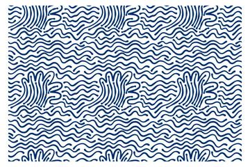 Seamless pattern of blue stormy waves. Design for backdrops with sea, rivers or water texture.