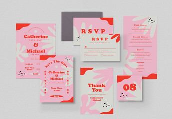 Tropical Wedding Invitation Suite Layout