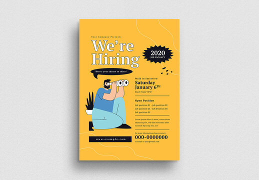 We're Hiring Flyer Layout