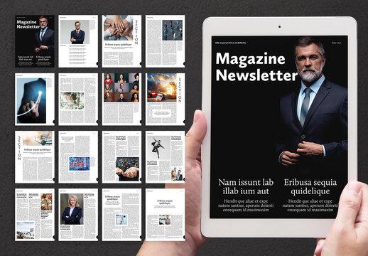 Business Digital Magazine Layout