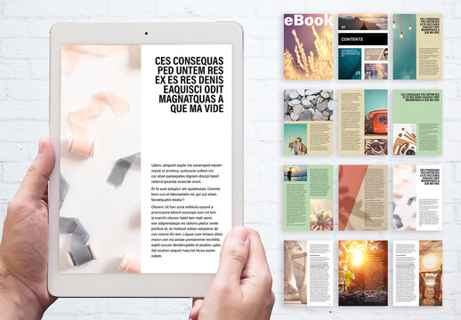 Minimal and Simple Ebook Design Creator for Ecourse Layout