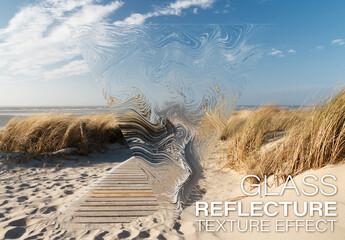 Reflective Texture Effect Mockup
