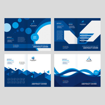 Cover design for a booklet, catalog, flyer, creative geometric background for presentations