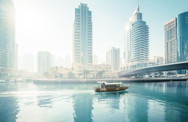 Fototapete - Dubai Marina at morning, United Arab Emirates