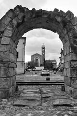 Ancient roman arch in Rimini