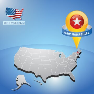new hampshire state on map of usa