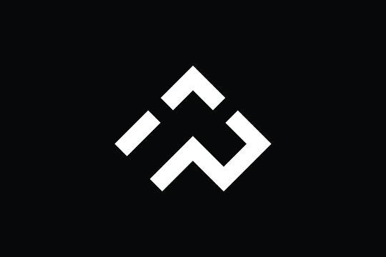Minimal Innovative Initial WP logo and PW logo. Letter WP PW creative elegant Monogram. Premium Business logo icon. White color on black background