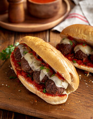 Meatball Sandwich on a Hoagie Roll