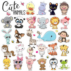 Door stickers Wall Decor With Your Own Photos Set of Cute Cartoon Animals