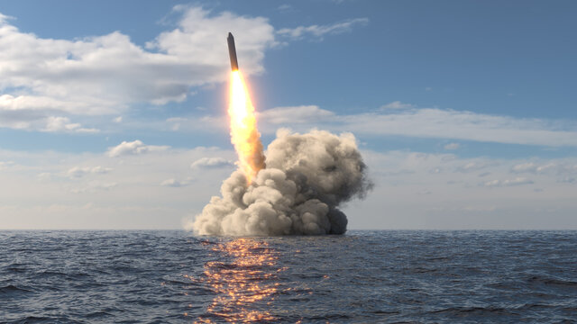 Ballistic missile launch from underwater