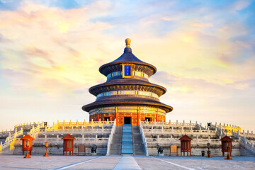 The Temple of Heaven is an imperial complex of religious buildings
