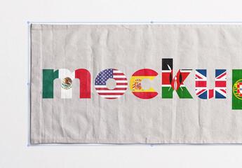 Flag Canvas Mockup