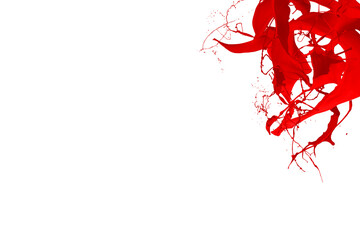 Red color splash dynamic liquid fluid pigment creative background