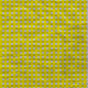 This scrapbook paper is great for many design projects.  It's a yellow and white gingham pattern that is crumpled in texture and square 12X12, with a touch of grunge.
