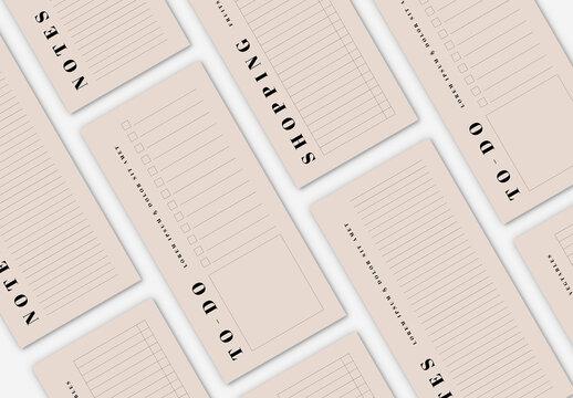 Simple Planner Layout Set