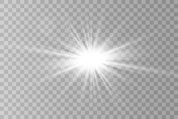 Sparks sparkle with a special light effect. Vector glitters on a transparent background. Glittering particles of fairy dust.
