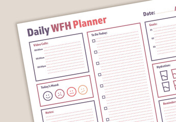 Daily Planner Layout