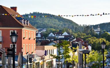 view of Bad wildungen city in Germany