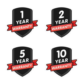 Warranty star icon set vector illustration isolated on white background