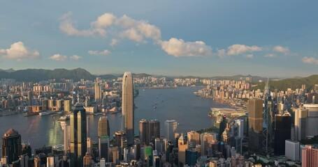 Wall Mural - Hong Kong skyline sunset