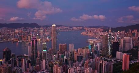Wall Mural - Hong Kong skyline night