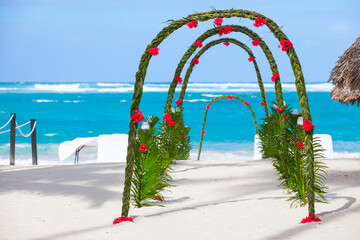 Wedding decoration, Dominican Republic