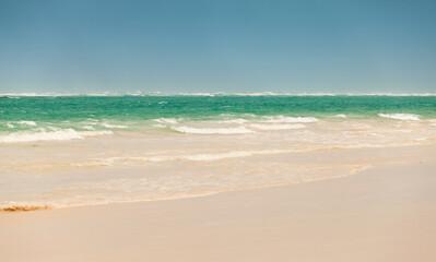 Empty Atlantic ocean coast, Dominican republic