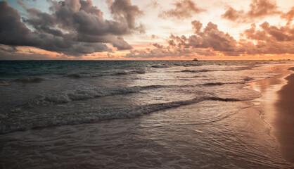 Bavaro beach sunset. Dominican Republic