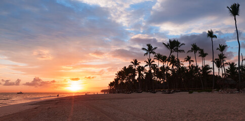 Dominican Republic, coastal panoramic landscape