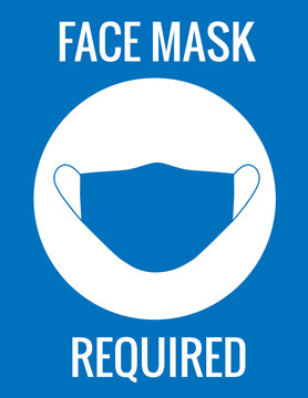 Signage Face Mask Required.