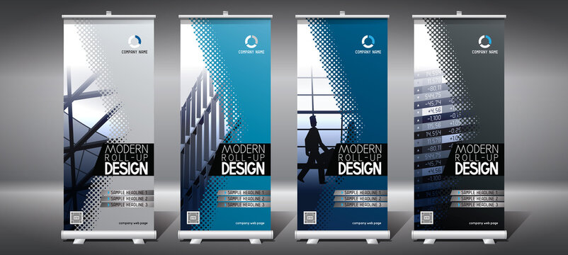 Roll-up templates (85x200 cm) - modern office buildings