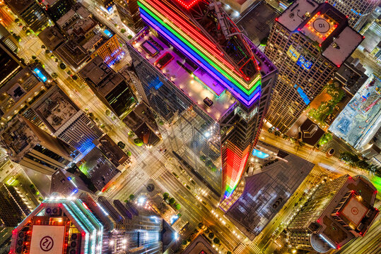 LOS ANGELES, UNITED STATES - Jun 25, 2020: PRIDE Building