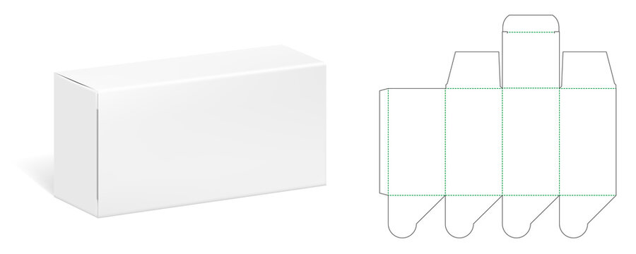 Packaging Box Die Cut Template With 3D Preview
