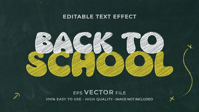 chalk premium editable text effect