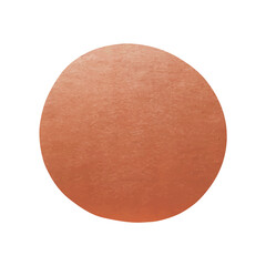 Copper Label - Round Metallic Shape - Copper Point