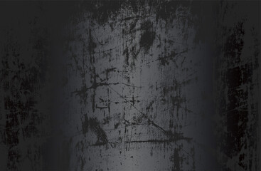 Luxury black metal gradient background with distressed metal plate texture.