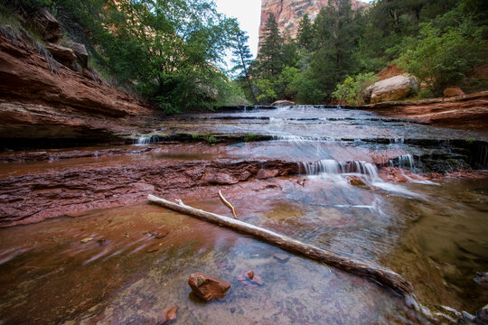 River scenes on the hike to the Subway in Zion National Park.