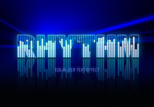 Music Text Effect Mockup