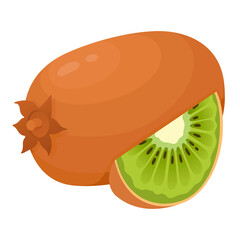 Kiwi fresh, ripe and juicy. Chinese gooseberry. Tropical green fruit whole and slice.