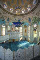 Interior Muslim mosque in the Kazan Kremlin