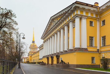 Admiralty. The architectural ensemble located in the center of St. Petersburg