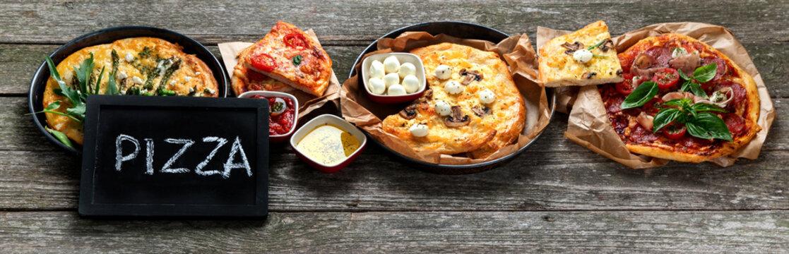 Freshly prepared Italian pizza