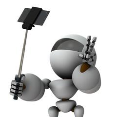 自撮を楽しむ人工知能のロボット