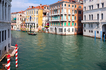 Venice. Old houses over the canal.