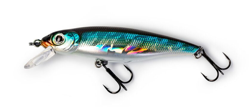Fishing lure on white